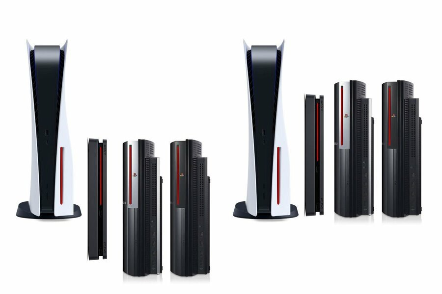 PS5 PlayStation 5 Size Comparison