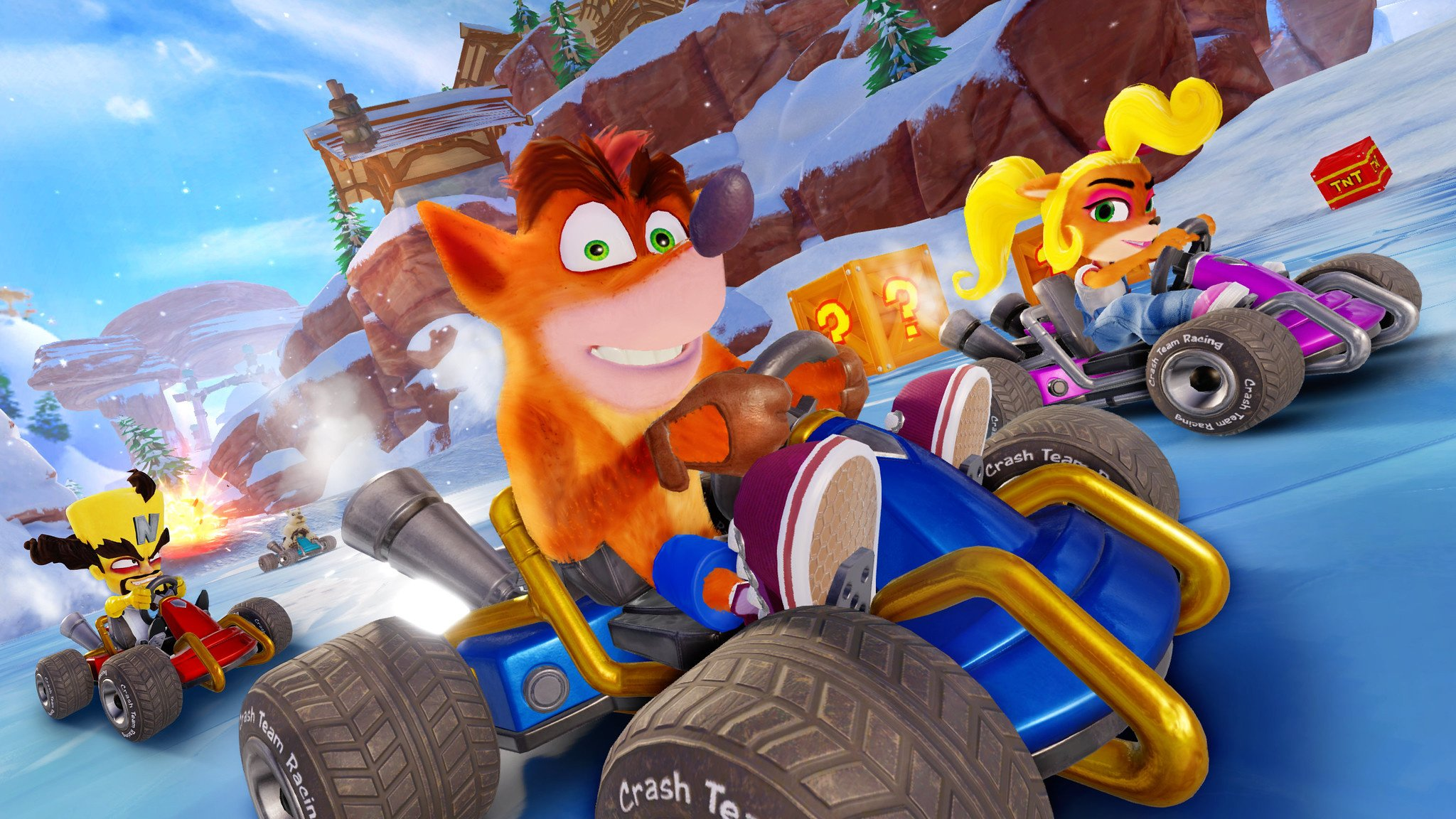 Check out 20 minutes of Crash Team Racing Nitro-Fueled right here