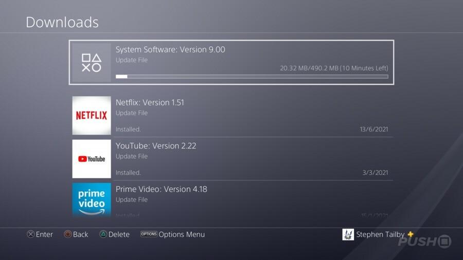 PS4 Firmware Update 9.00 1