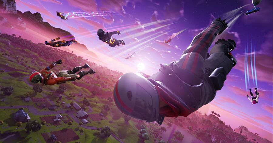 Fortnite How to Skydive Through Floating Rings Guide 1