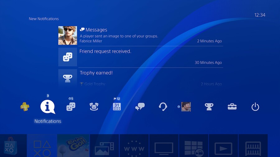 PS5 PlayStation 5 User Interface