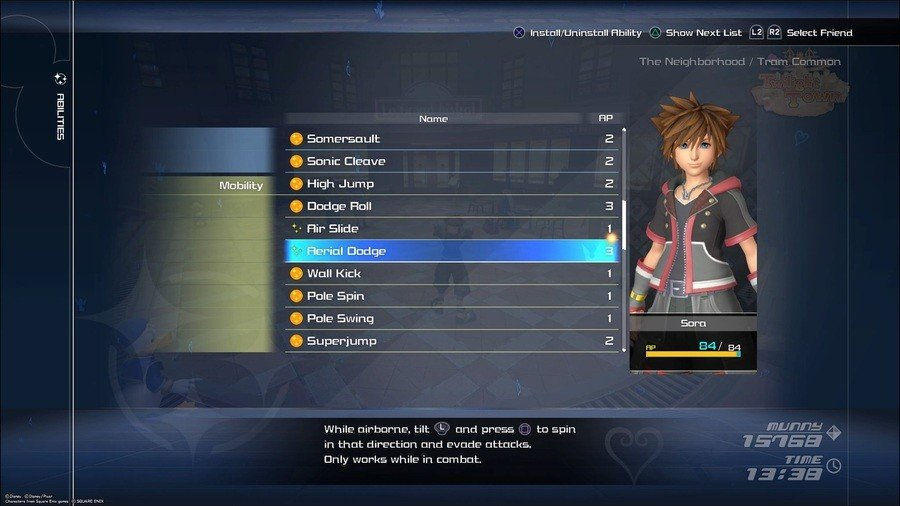 Image result for kingdom hearts 3 abilities menu