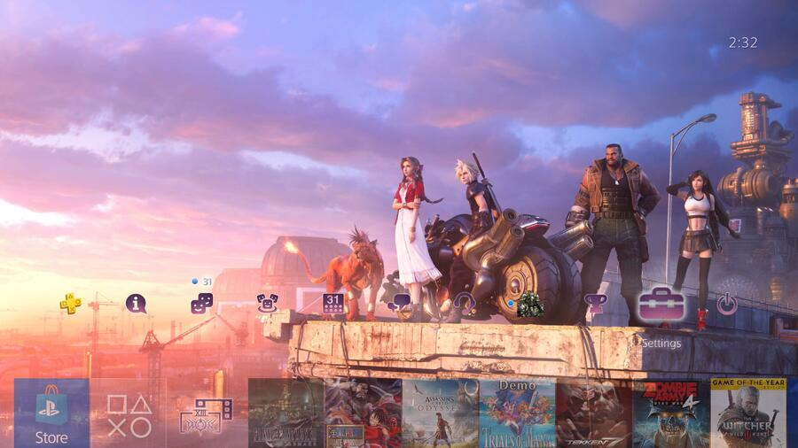 Final Fantasy VII Remake PS4 Theme Free