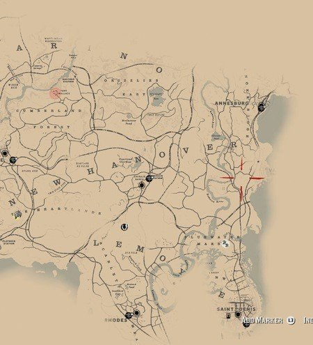 Red Dead Redemption 2 Poisonous Trail Treasure Map Locations 18