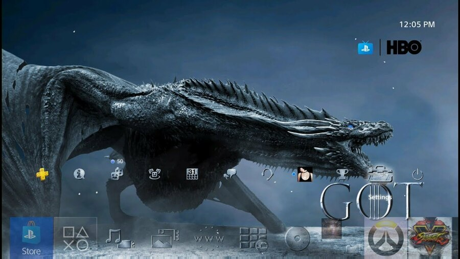 Game of Thrones Dragon Theme PS4 PlayStation 4