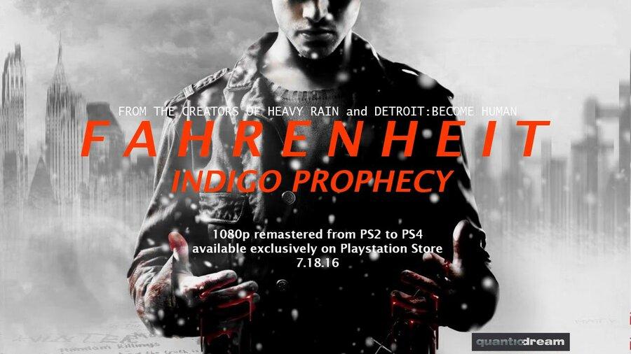 Fahrenheit Indigo Prophecy PS2 PlayStation 2