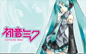 Now You'll Be Able To Listen To Your Favourite Hatsune Miku Tracks Via The PlayStation Vita.