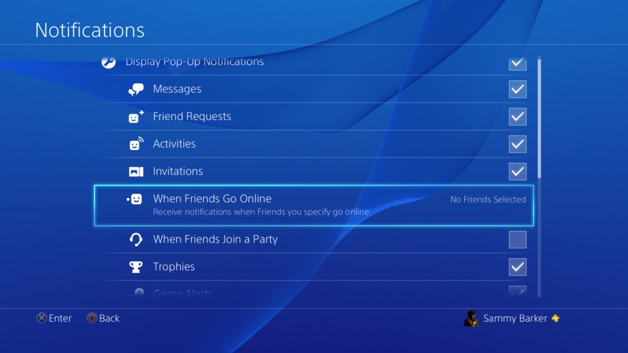 How to Enable Online Friend Notifications PS4 PlayStation 4 Guides