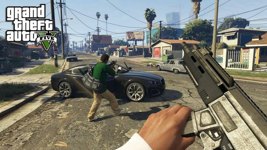 Grand Theft Auto V PS4 First-Person