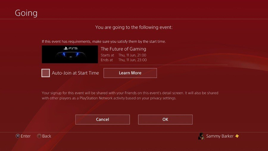 PS5 Reveal Event Auto Join