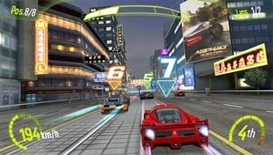 Asphalt Injection's visual style screams Outrun 2006.