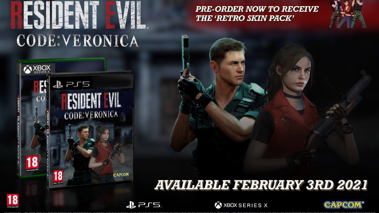 Random: Resident Evil: Code Veronica X Fans Produce Their Own Promo Material for a PS5 Remake