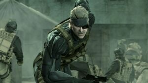 Snake's sprinting towards his PS3