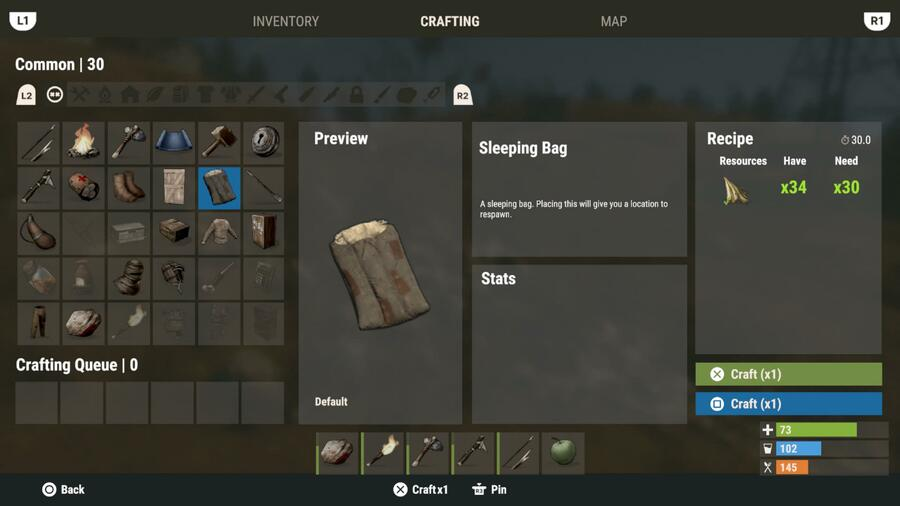 Rust Console Edition Guide: How to Create a Respawn Point Using a Sleeping Bag