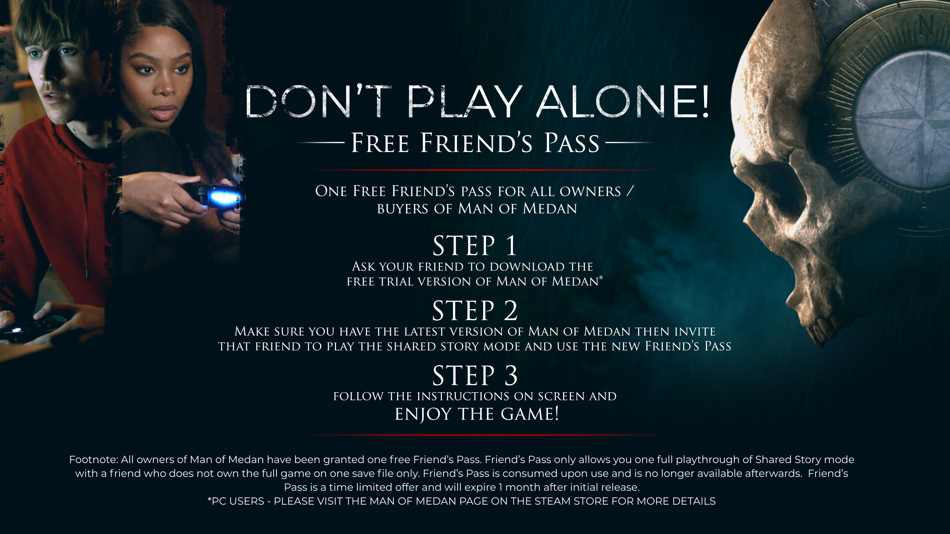 Bandai Namco Gives Man of Medan Owners a Free Friend's Pass to Celebrate Black Friday
