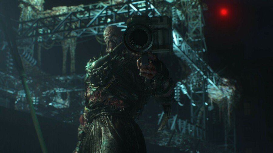 Nemesis with his Rocket Launcher in Resident Evil 3 remake