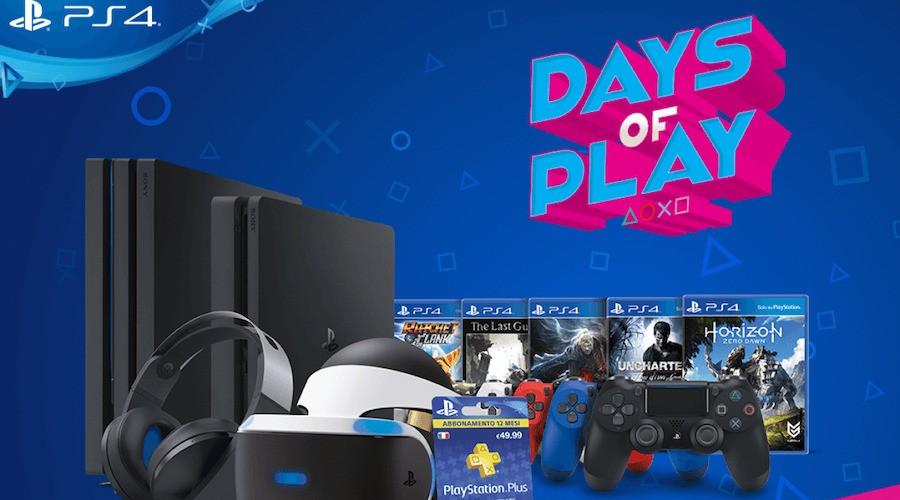 Days of Play PS4 PlayStation 4 Deals Sales 1