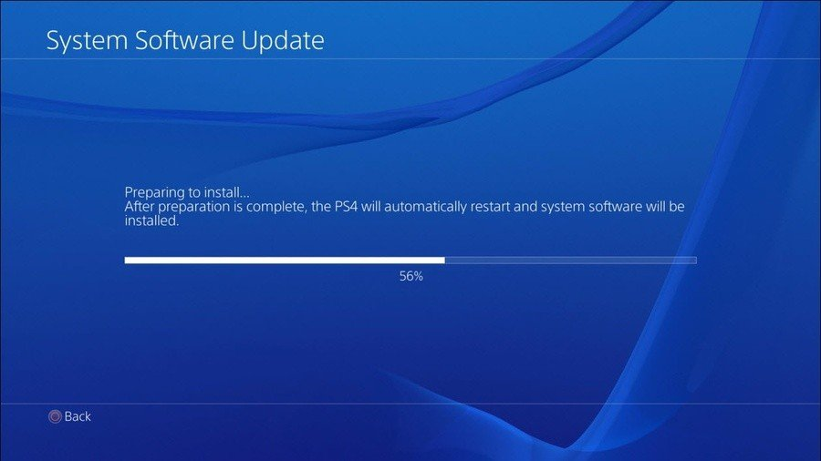 PS4 PlayStation 4 Firmware Update 6.50