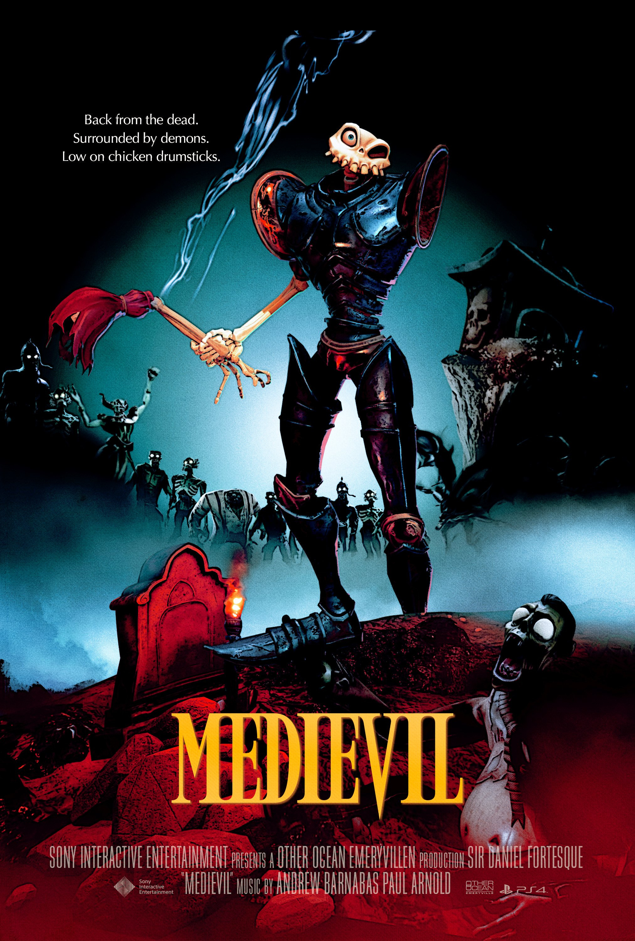 medievil movie poster posters horror army darkness classic spoof flicks ps4 playstation brilliantly random square dan push these