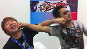 Street Fighter's Yoshinori Ono and Tekken's Katsuhiro Harada duke it out.