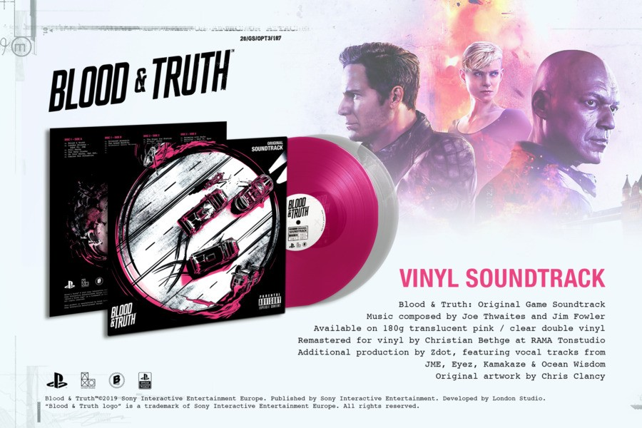 Blood & Truth PS4 PlayStation 4 Vinyl Record 1