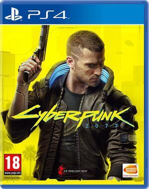 Cyberpunk 2077's cover, featuring male V
