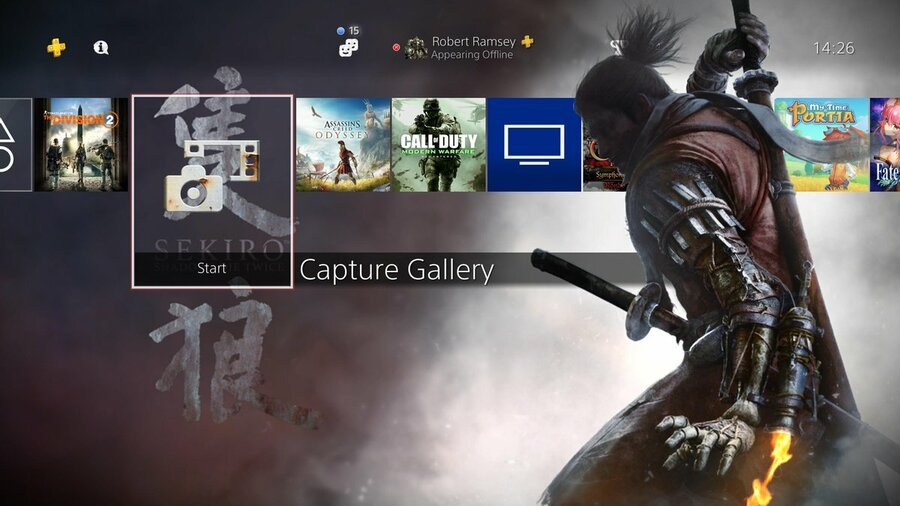 Sekiro Ps4 Dynamic Theme