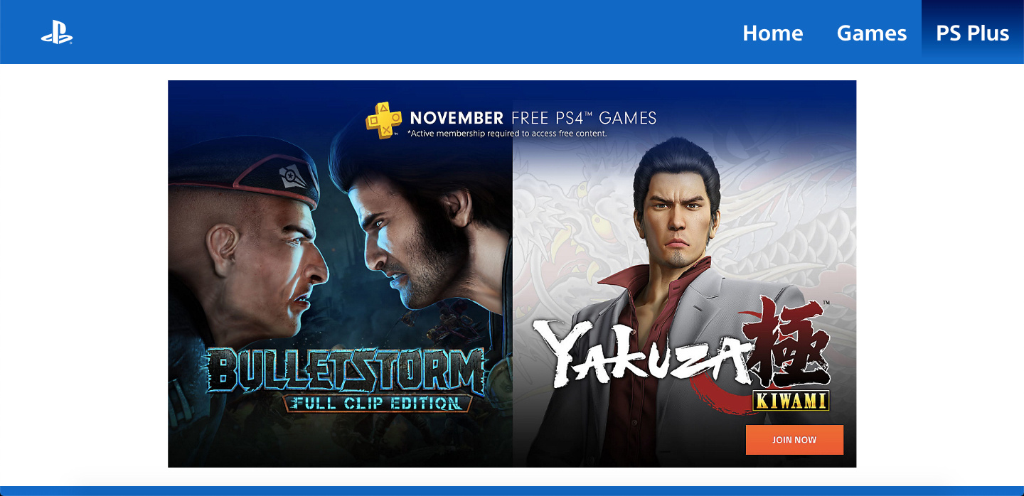 PlayStation Plus November 2018 PS4 PlayStation 4