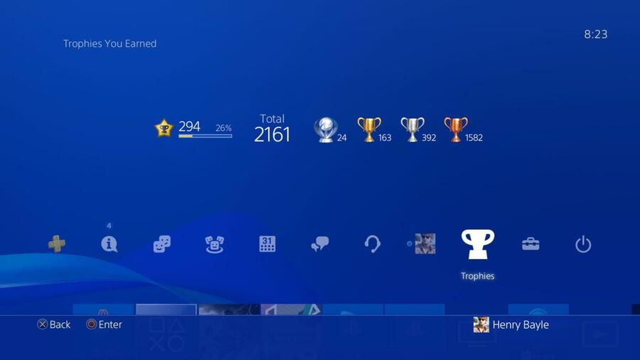 PlayStation New Trophy System 1