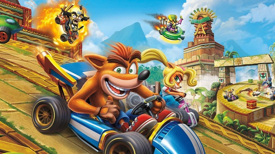 Crash Team Racing Nitro-Fueled Free Dynamic Theme PS4 PlayStation 4
