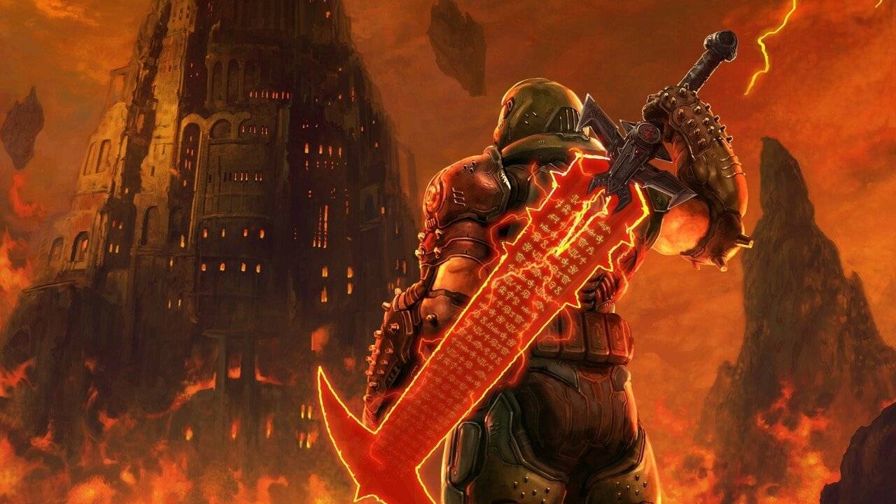 Doom Eternal Pays Tribute To Final Fantasy Vii Remake With Awesome Artwork Push Square