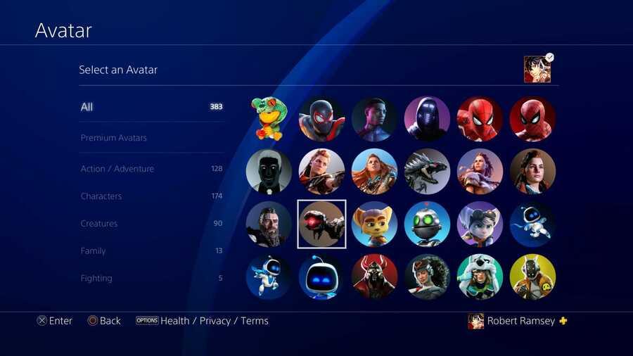 New PSN Avatars