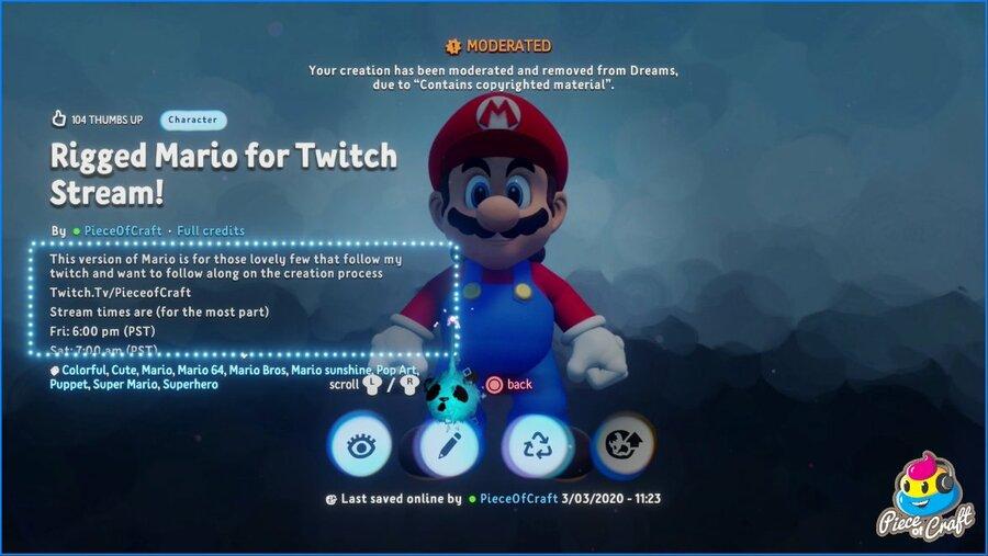 Dreams PS4 PlayStation 4 Super Mario Nintendo 1