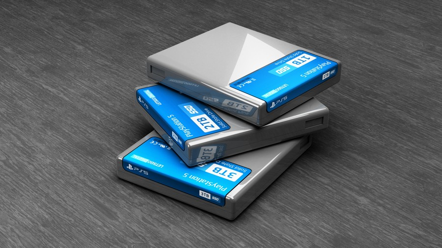 Sony Patent PS5 SSD Storage Cartridge 3D Render 1