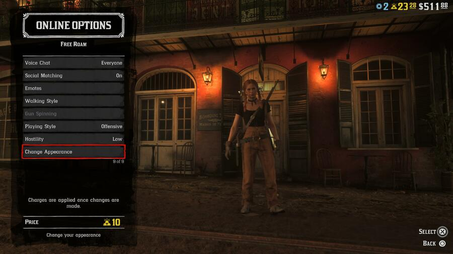 Red Dead Online How to Change Your Appearance Guide 1