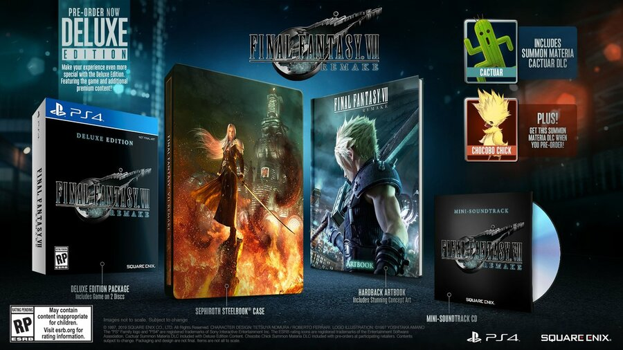 Final Fantasy VII Remake Two Discs