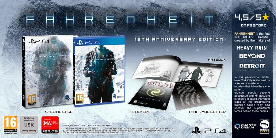 Fahrenheit 15th Anniversary Edition PS4 PlayStation 4