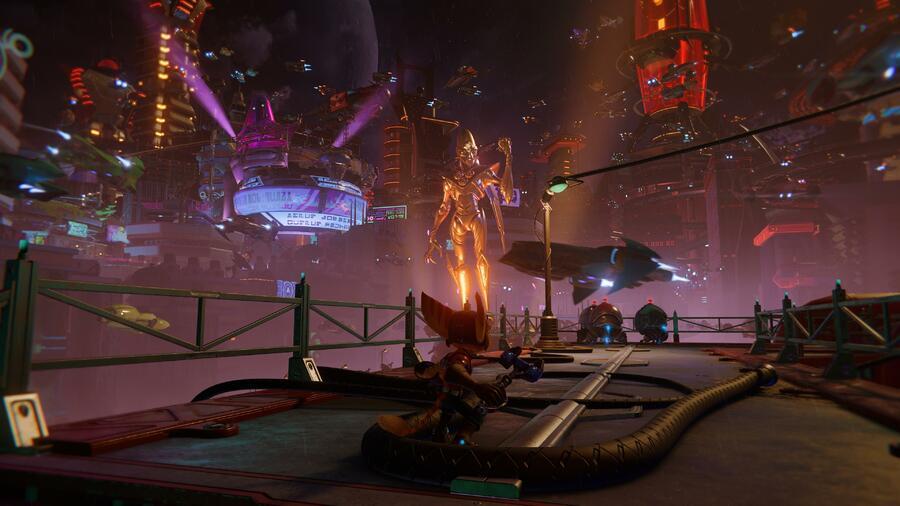 Ratchet & Clank: Rift Apart: Corson V (Nefarious City) - All Collectibles: Spybots, Gold Bolts, Armour, CraiggerBears 1