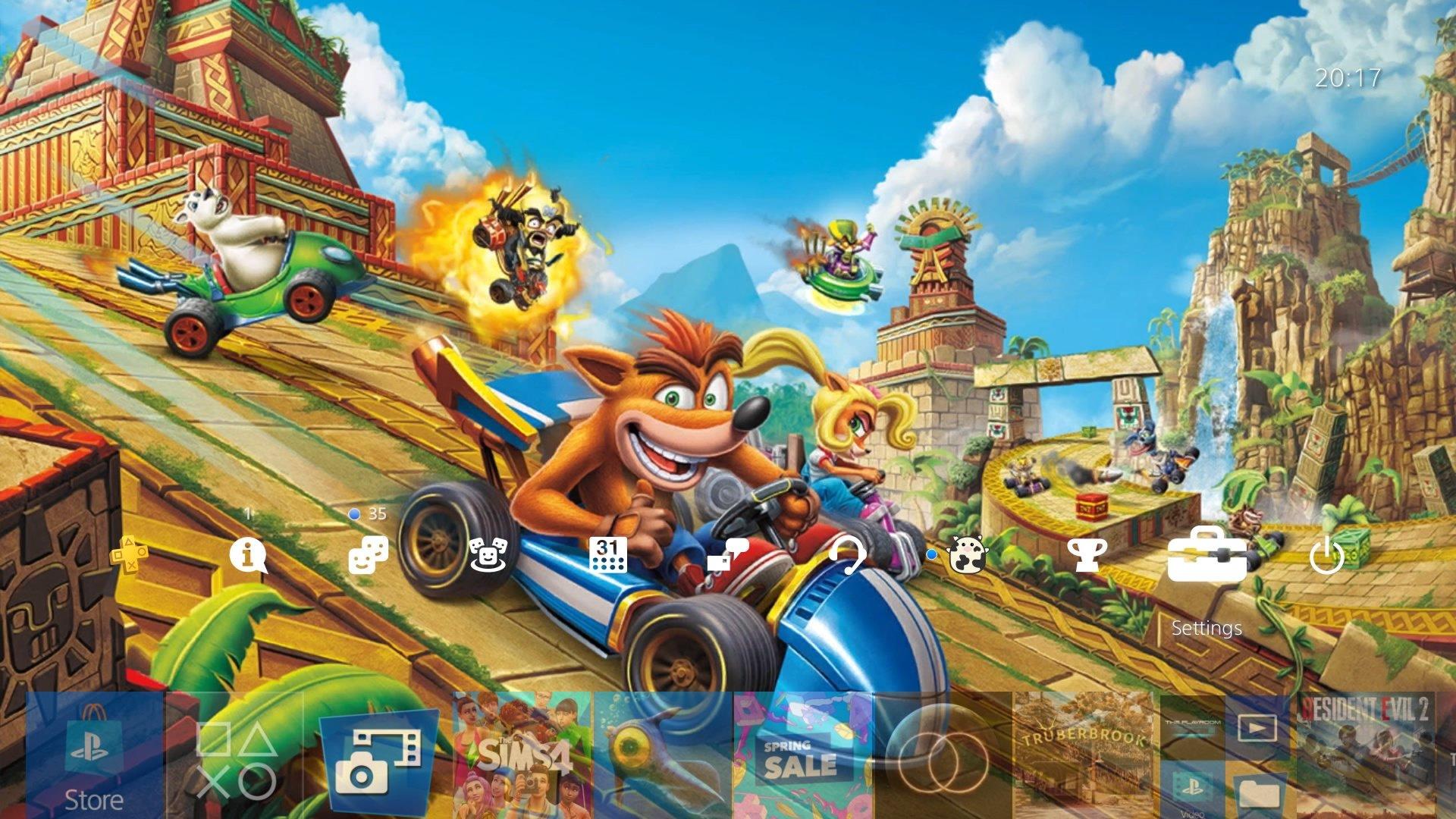 crash team racing nitro fueled the race is on theme.original - PlayStation 4 - Guida: i migliori temi gratuiti da scaricare