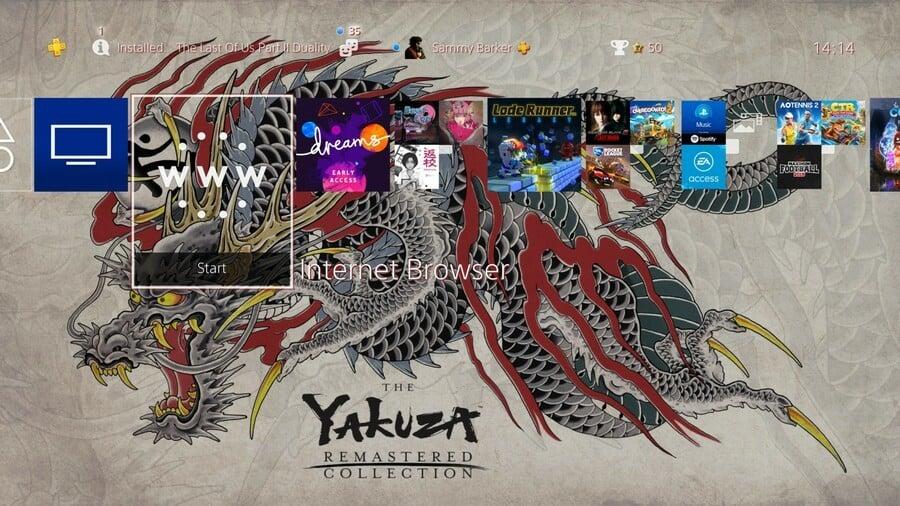 Yakuza PS4 PlayStation 4 Dynamic Theme 1