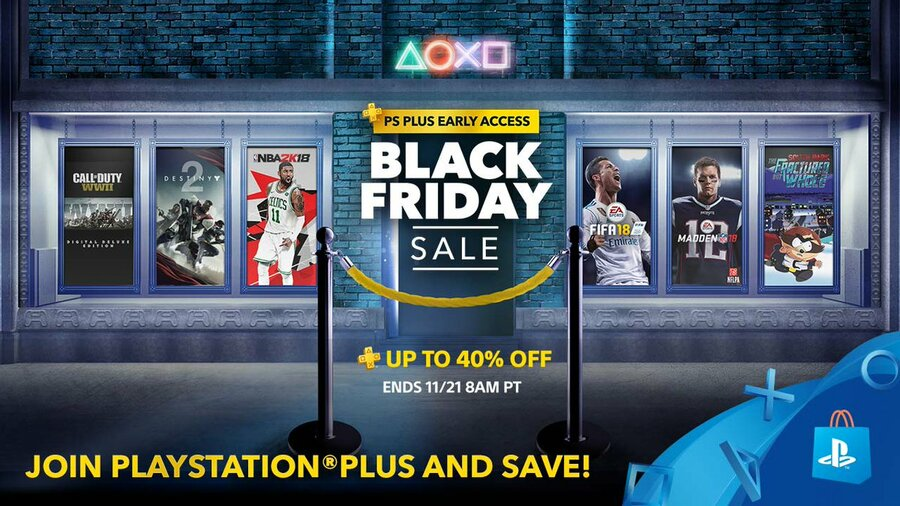PlayStation Plus PS Plus Store Black Friday 2017 1