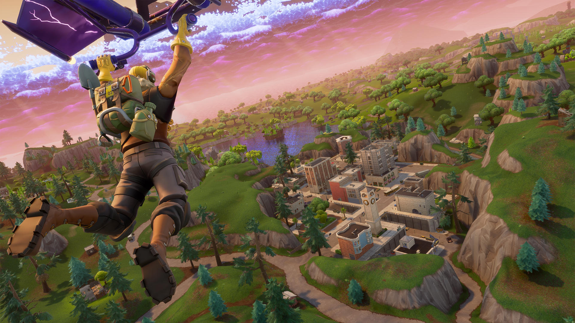 Fortnite Search Between A Scarecrow Pink Hot Rod And A Big Screen