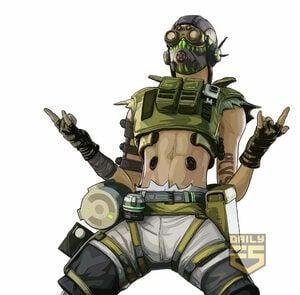 Apex Legends Octane Character Art PS4 PlayStation 4
