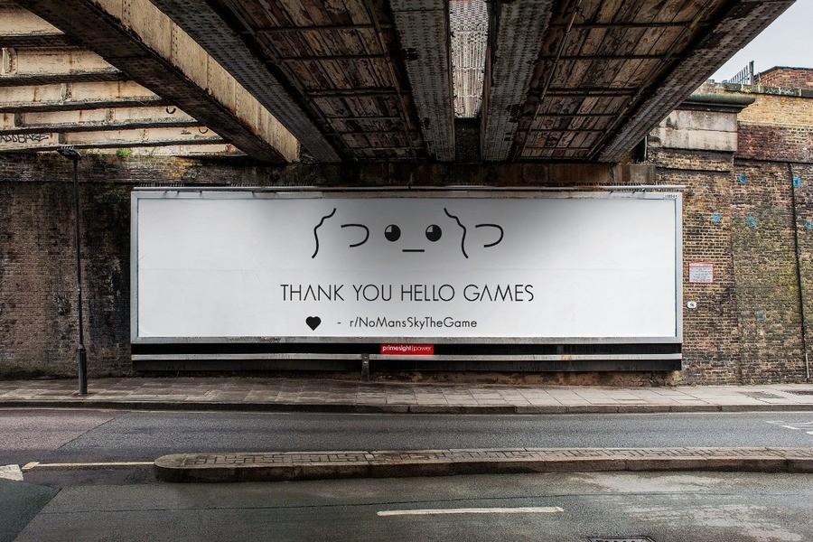 No Man's Sky Billboard Thanks Hello Games