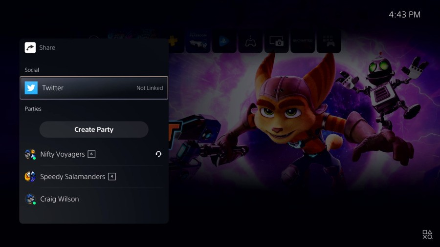 PS5 party system