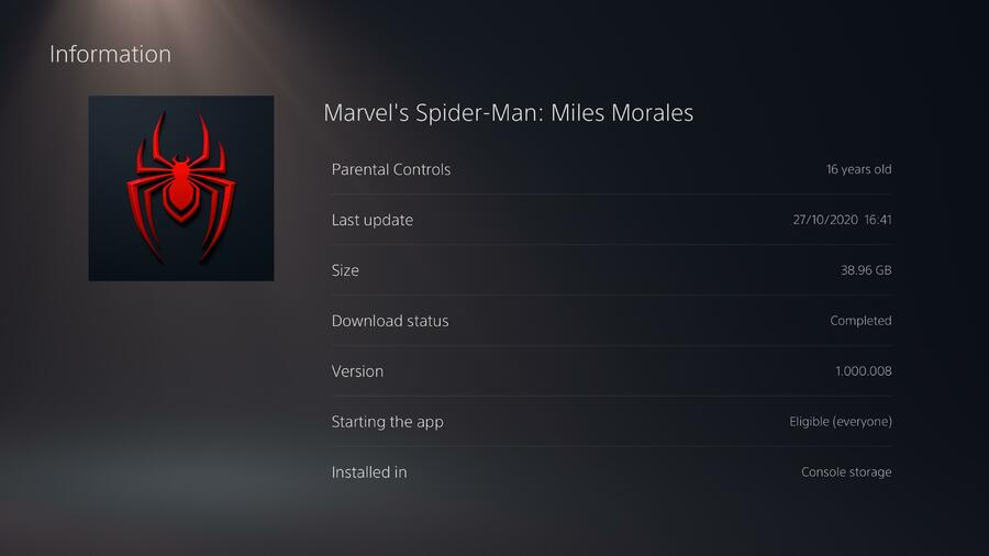 Marvel's Spider-Man: Miles Morales: How Much Storage Space Does It Take Up? Guide