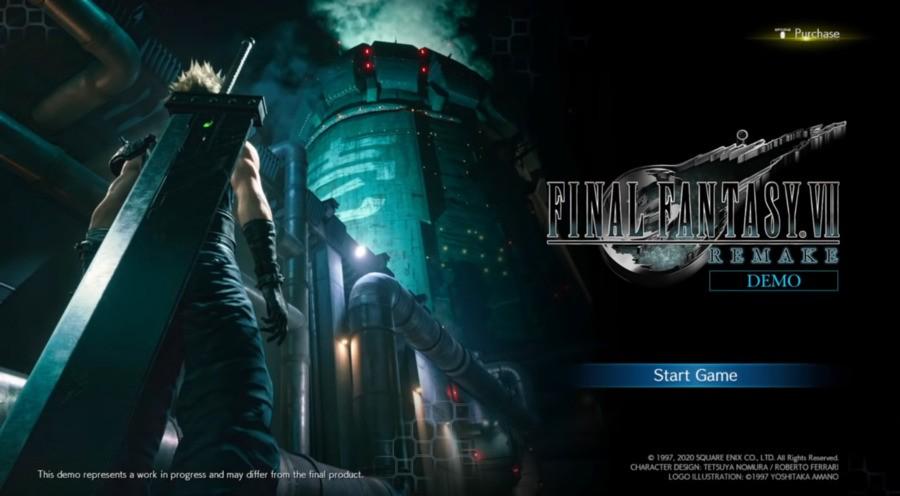 Final Fantasy VII Remake Demo Leak PS4 Demo