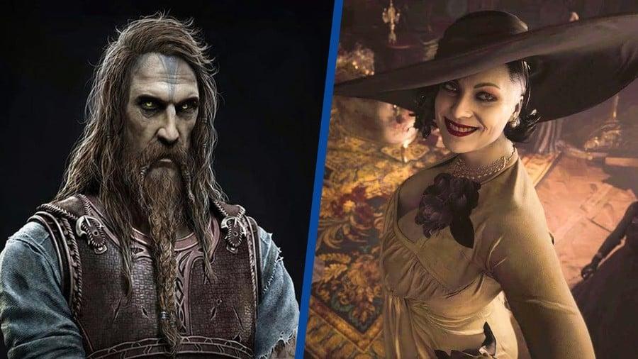 God of War Ragnarok Tyr Lady Dimitrescu PS5 PS4