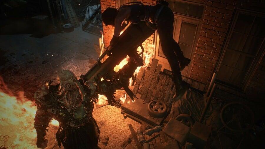 Jill vs Nemesis in Resident Evil 3 remake