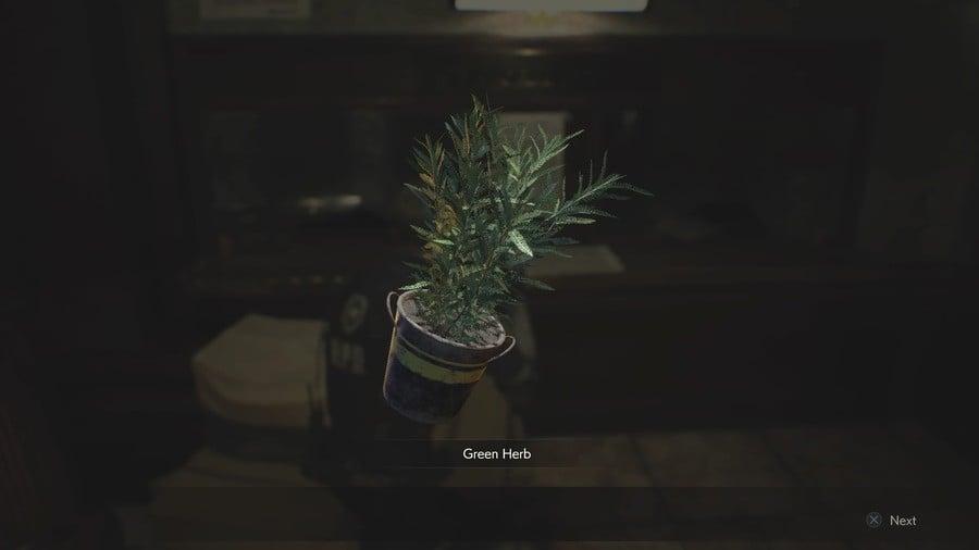 Green Herb in Resident Evil 3 Remake
